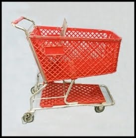Reconditioned Shopping Carts Plastic Red KUN336TR