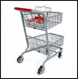 Metal Cart 2 Tier Euro