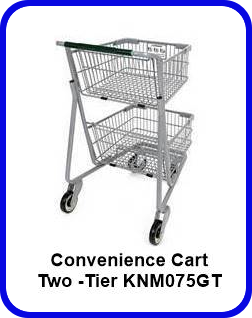 New Shopping Cart Metal Two-Tier Convenience Express 2 Basket Cart KNM075GT