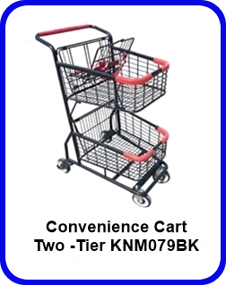 Two -Tier Convenience Cart - KNM079BK