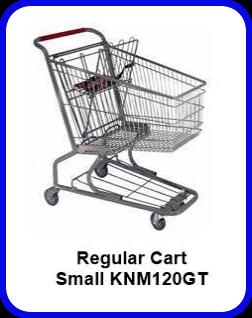Metal Shopping Cart Regular - Small Metal Cart KNM120GT SP