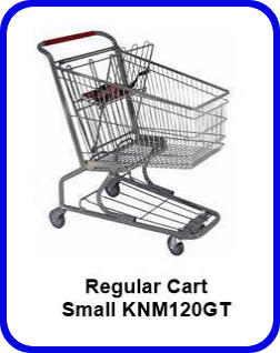 Metal Shopping Cart Regular - Small Metal Cart KNM120GT SP