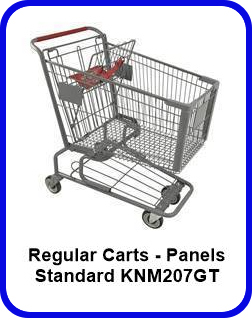 Metal Shopping Cart Regular - Standard Metal Cart KNM207GT SP