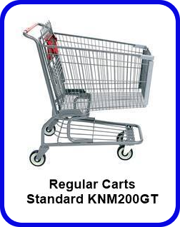 Metal Shopping Cart Regular - Standard Metal Cart KNM200GT SP