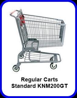 Metal Shopping Cart Regular - Standard Metal Cart KNM200GT SP