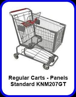 Metal Shopping Cart Regular - Standard Metal Cart KNM207GT SP