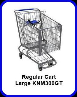 Metal Shopping Cart Regular - Large Metal Cart KNM300GT