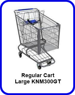 Metal Shopping Cart Regular - Large Metal Cart KNM300GT