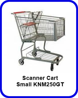 Metal Shopping Cart Scanner Small Metal Cart KNM250GT SP