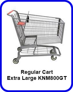 Metal Shopping Cart Regular Extra Large Metal Cart KNM800GT SP
