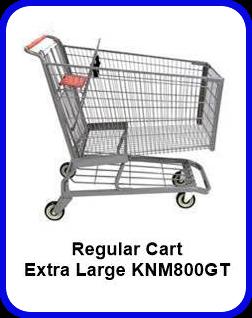 Metal Shopping Cart Regular Extra Large Metal Cart KNM800GT SP