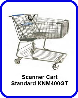 Metal Shopping Cart Scanner Standard Metal Cart KNM400GT SP