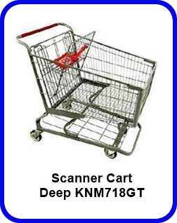 Metal Shopping Cart Scanner Deep Metal Cart KNM718GT SP