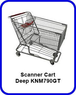 Metal Shopping Cart Scanner Deep Metal Cart KNM790GT SP