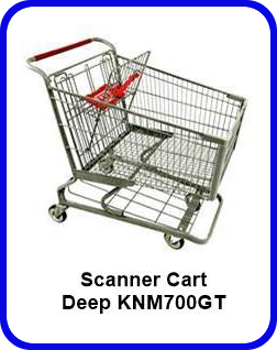 Metal Shopping Cart Scanner Deep Metal Cart KNM700GT SP