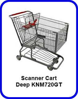 Metal Shopping Cart Scanner Deep Metal Cart KNM720GT SP