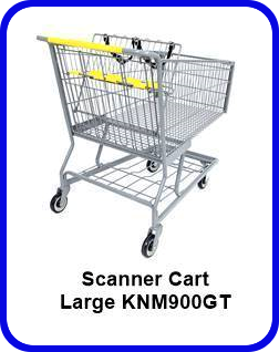 Metal Shopping Cart Scanner Large Metal Cart KNM900GT SP