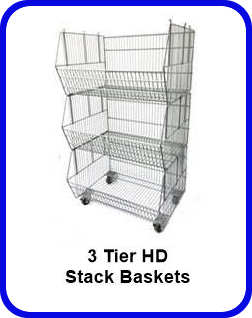 3 tier stack baskets wire baskets stacking