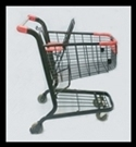 Reconditioned Shopping Carts Metal Black - KUMVE85BK