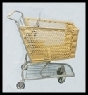 Reconditioned Shopping Carts Plastic Beige KUUP20BE
