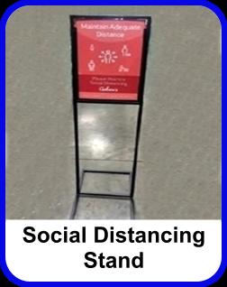 Corona Virus Social Distancing Store Floor Stand